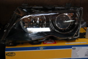 A headlamp with a brand new lens.